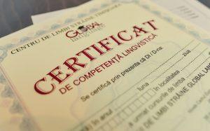 Certificat de competenta lingvistica - Global Language - Cursuri de limbi straine - Cursuri Enlgeza Timisoara, Cursrui Germana Timisoara, Cursuri Franceza Timisoara